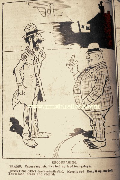 Edwardian Cartoon from Ally Sloper's Half Holiday